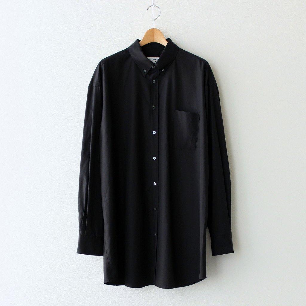 Maison Margiela |COTTON POPELINE OVER FIT SHIRT #BLACK [S30DL0481]
