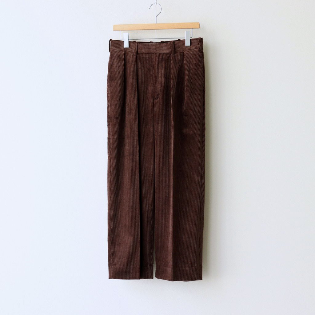 MARKAWARE|2 PLEATED COMFORT FIT TROUSERS #DARK BROWN [A20C-06PT02C]