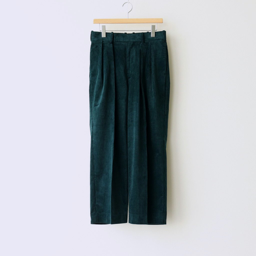 MARKAWARE|2 PLEATED COMFORT FIT TROUSERS #DARK JADE [A20C-06PT02C]