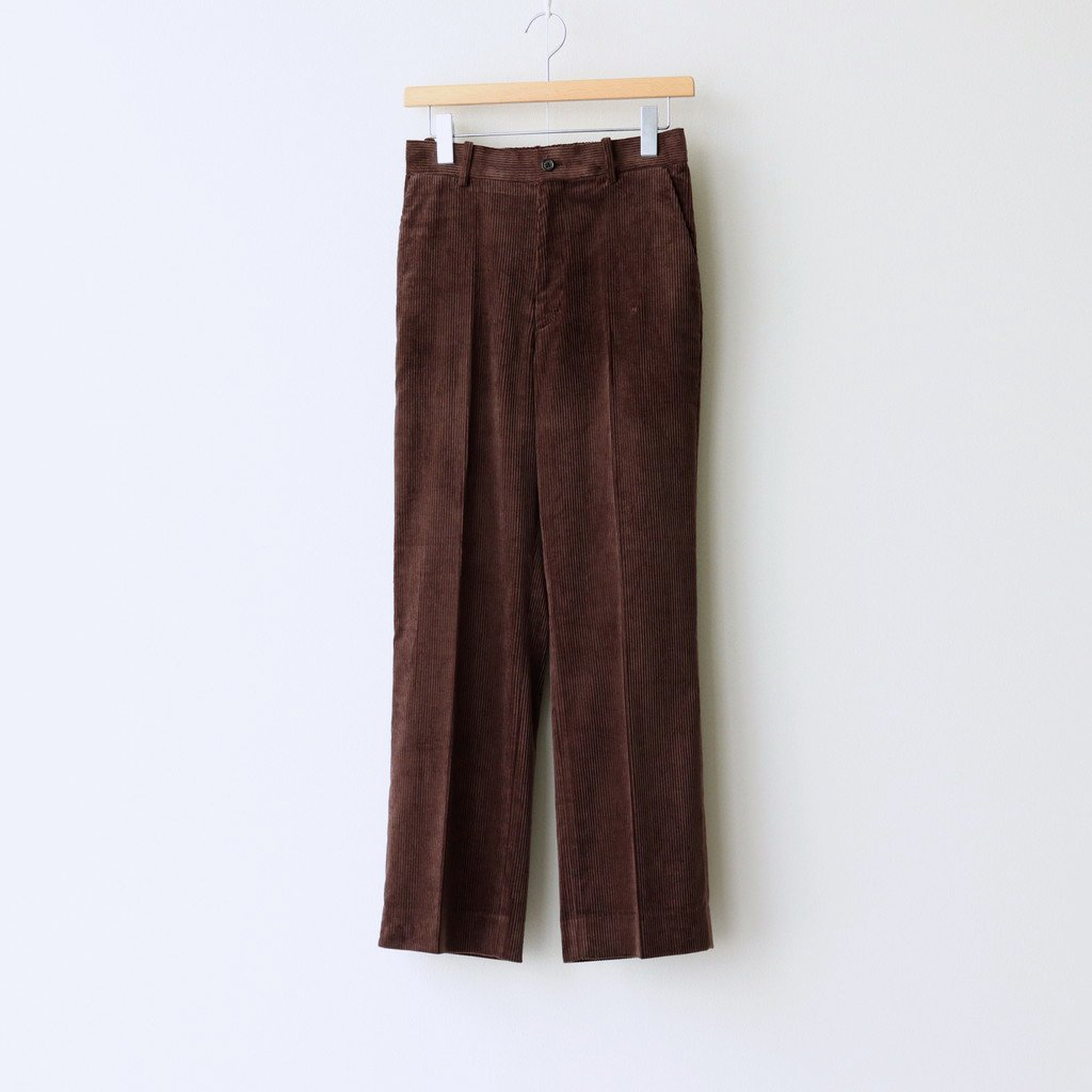 MARKAWARE|STRAIGHT FIT TROUSERS #DARK BROWN [A20C-06PT03C]