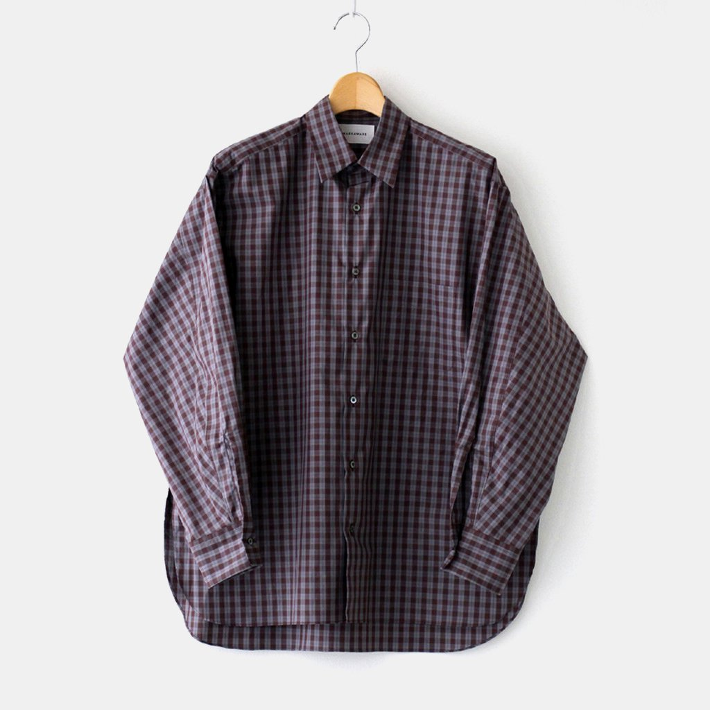 MARKAWARE|COMFORT FIT SHIRT #BROWN CHECK [A20C-08SH01C]