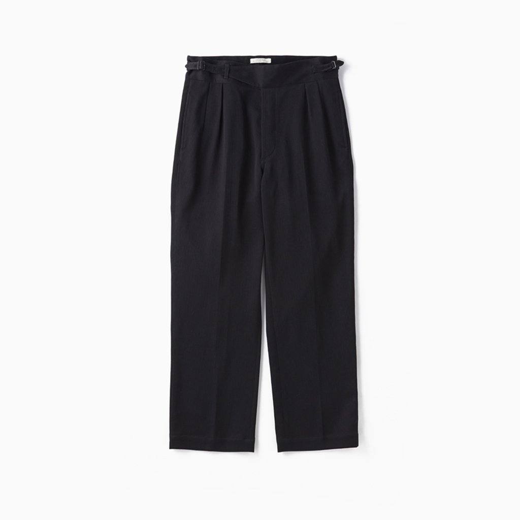 OLD JOE BRAND|SIDE BUCKLE GURKHA TROUSER #BLACK [202OJ-PT06]