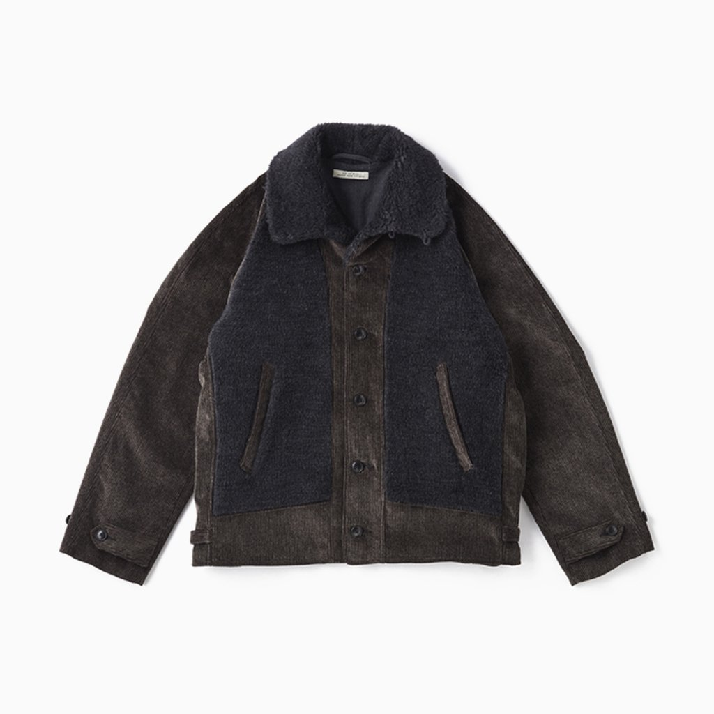 OLD JOE BRAND|BUTTONED FRONT GRIZZLY JACKET #SLATE [202OJ-JK12]