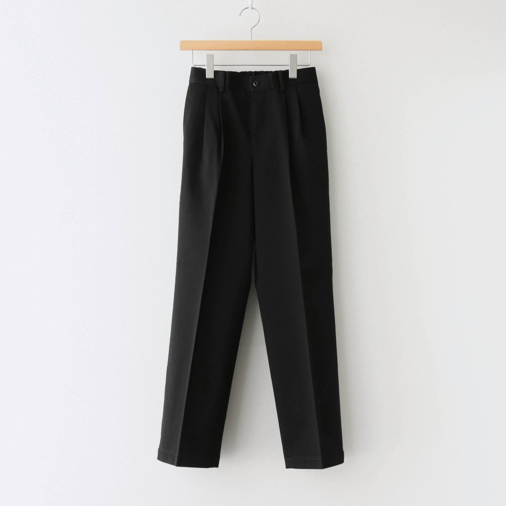 MARKAWARE|DOUBLE PLEATED STRAIGHT FIT #BLACK [A20D-04PT02C]