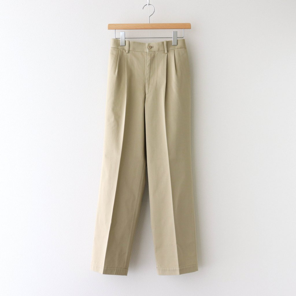 MARKAWARE|DOUBLE PLEATED STRAIGHT FIT #SAND [A20D-04PT02C]