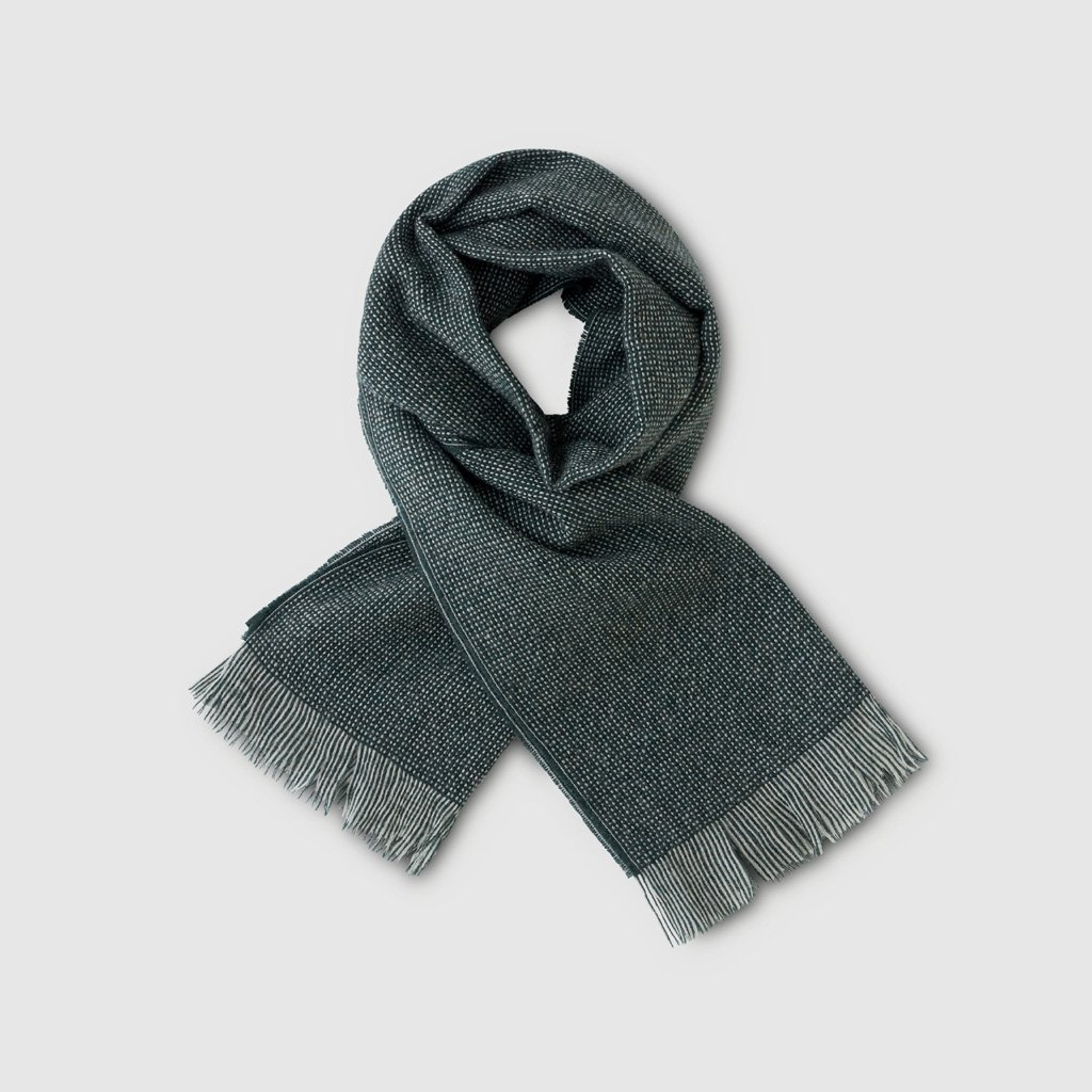 PHIGVEL MAKERS & Co.|GENT'S SCARF #HUNTER GREEN [PMAK-AC03]