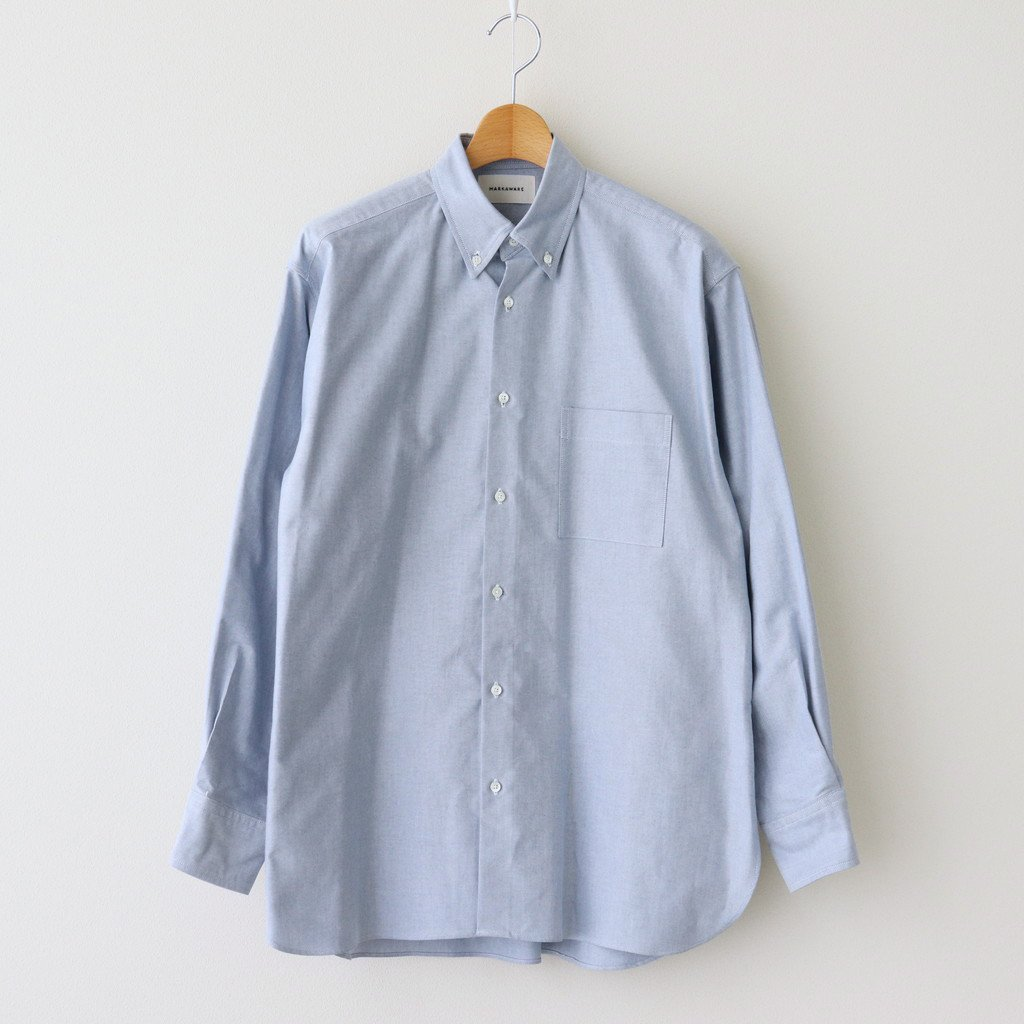 MARKAWARE|CONFORT FIT POLO COLLAR SHIRT #BLUE [A21A-09SH01C]