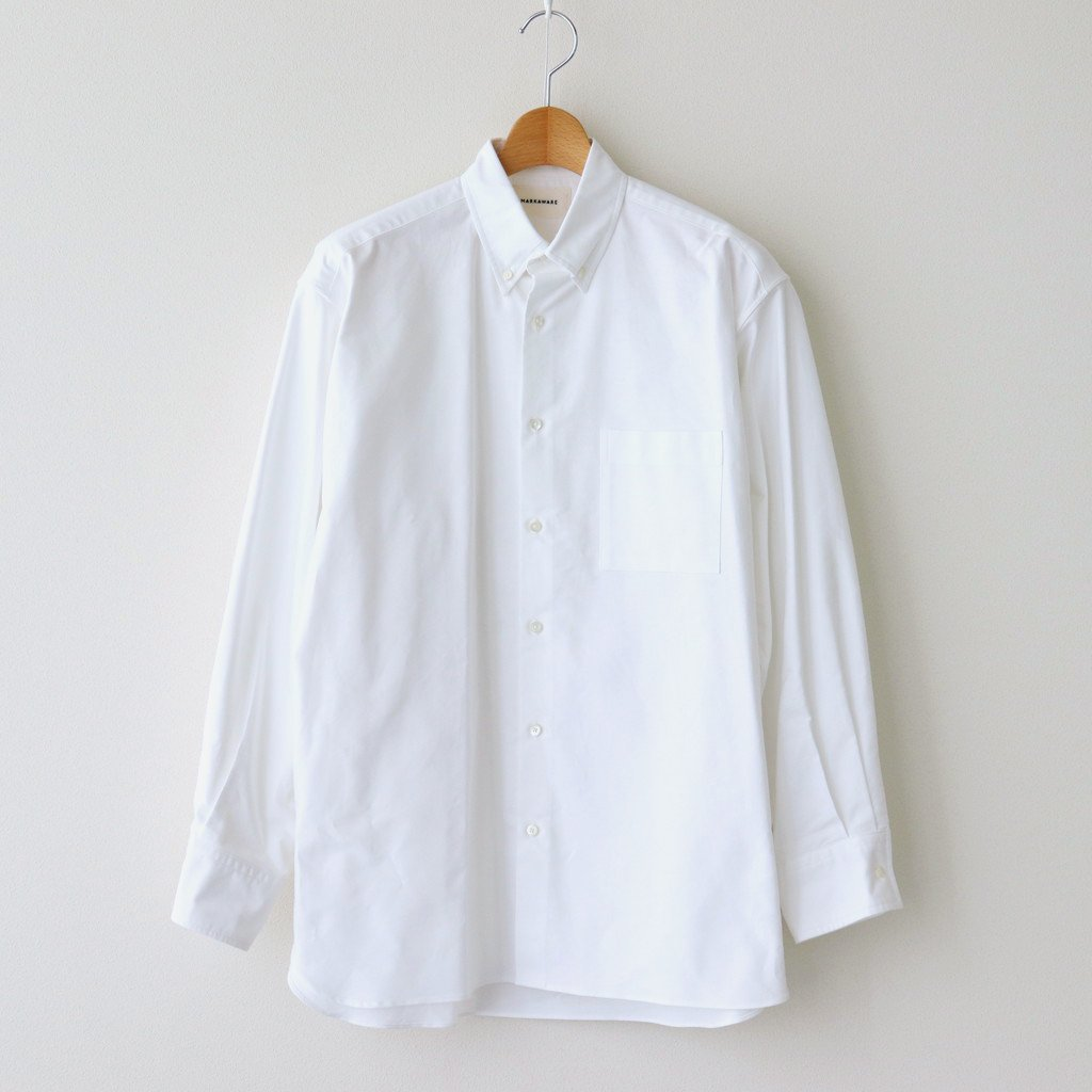 MARKAWARE|CONFORT FIT POLO COLLAR SHIRT #WHITE [A21A-09SH01C]
