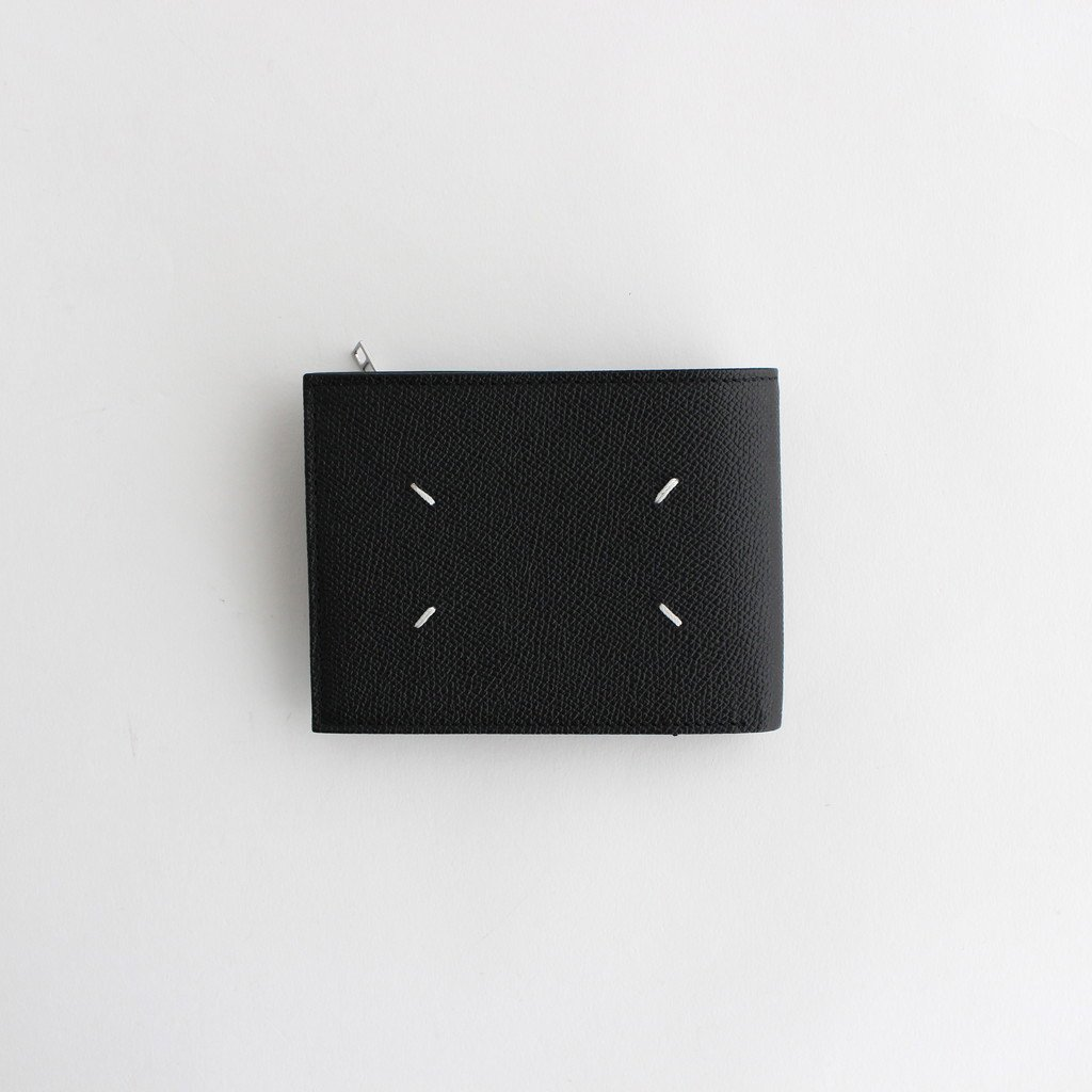 Maison Margiela |ZIP LEATHER WALLET WIDE #BLACK [S35UI0436]