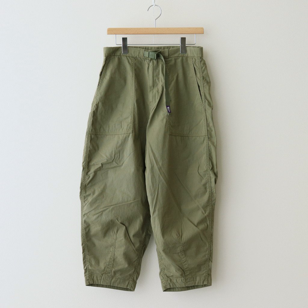 THE NORTH FACE PURPLE LABEL|RIPSTOP WIDE CROPPED PANTS #KHAKI [NT5064N]