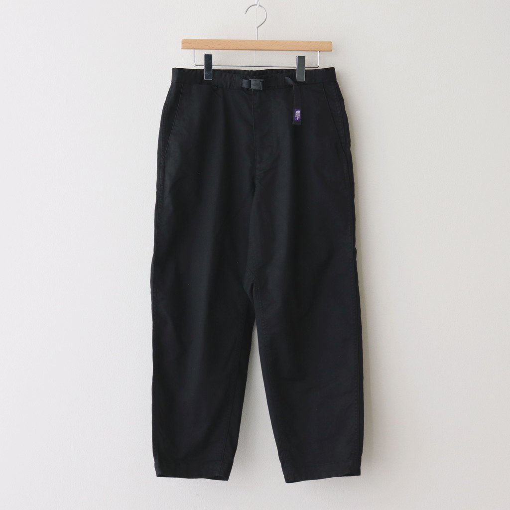 THE NORTH FACE PURPLE LABEL|STRETCH TWILL WIDE TAPERED PANTS #BLACK [NT5052N]