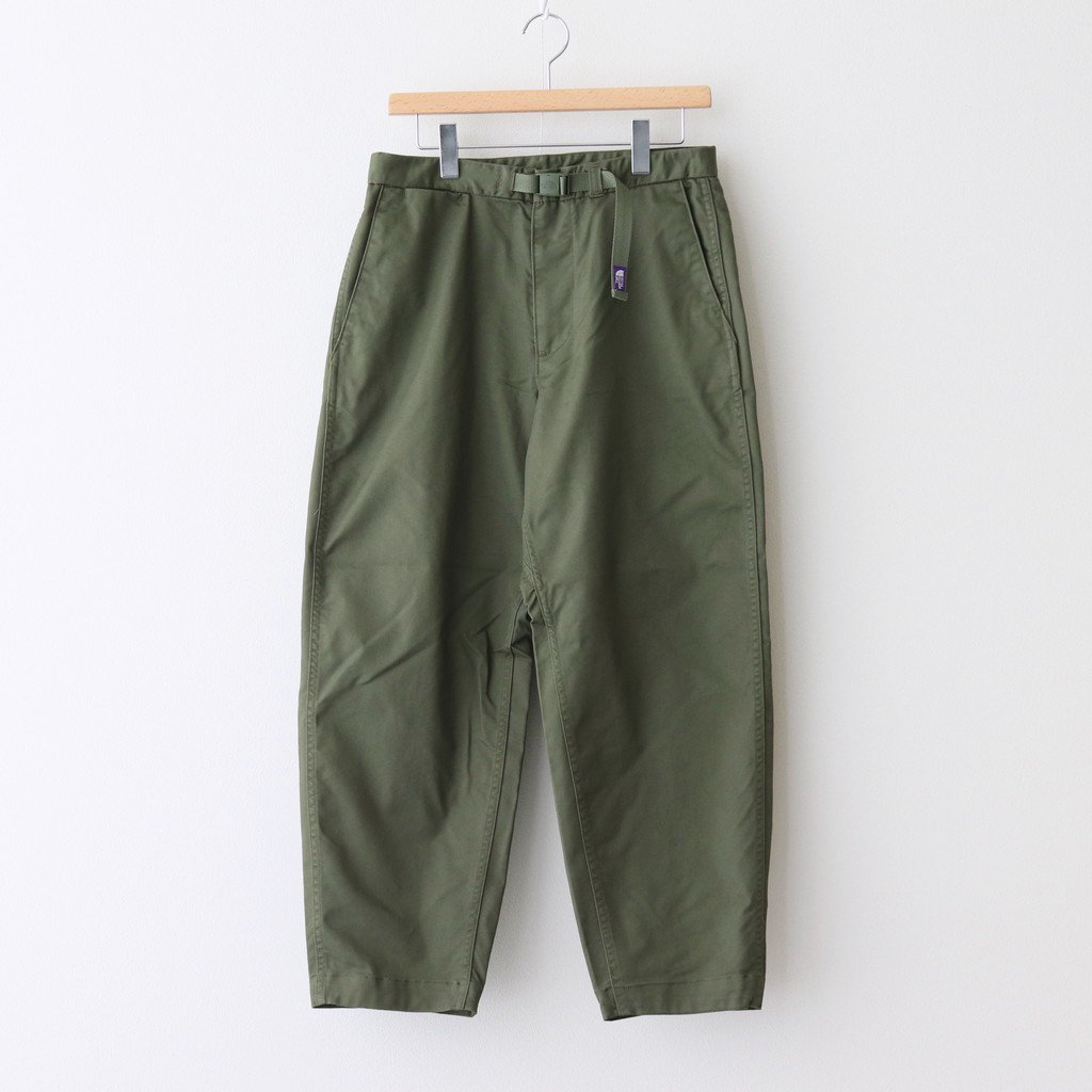 THE NORTH FACE PURPLE LABEL|STRETCH TWILL WIDE TAPERED PANTS #KHAKI [NT5052N]