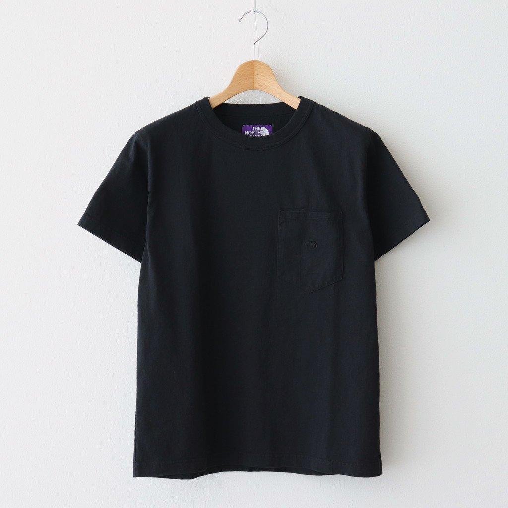 THE NORTH FACE PURPLE LABEL|7OZ H/S POCKET TEE #BLACK [NT3103N]