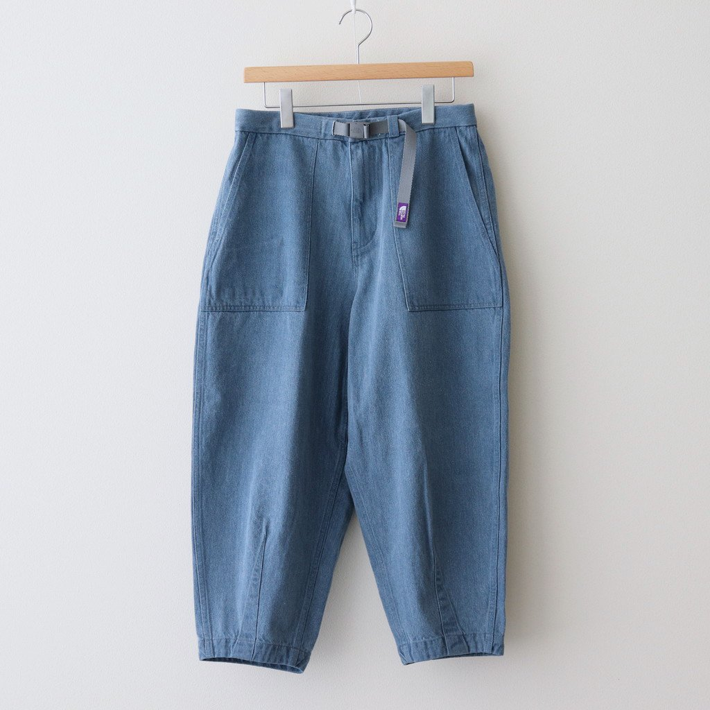 THE NORTH FACE PURPLE LABEL|DENIM FIELD WIDE CROPPED PANTS #INDIGO BLEACH [NT5104N]