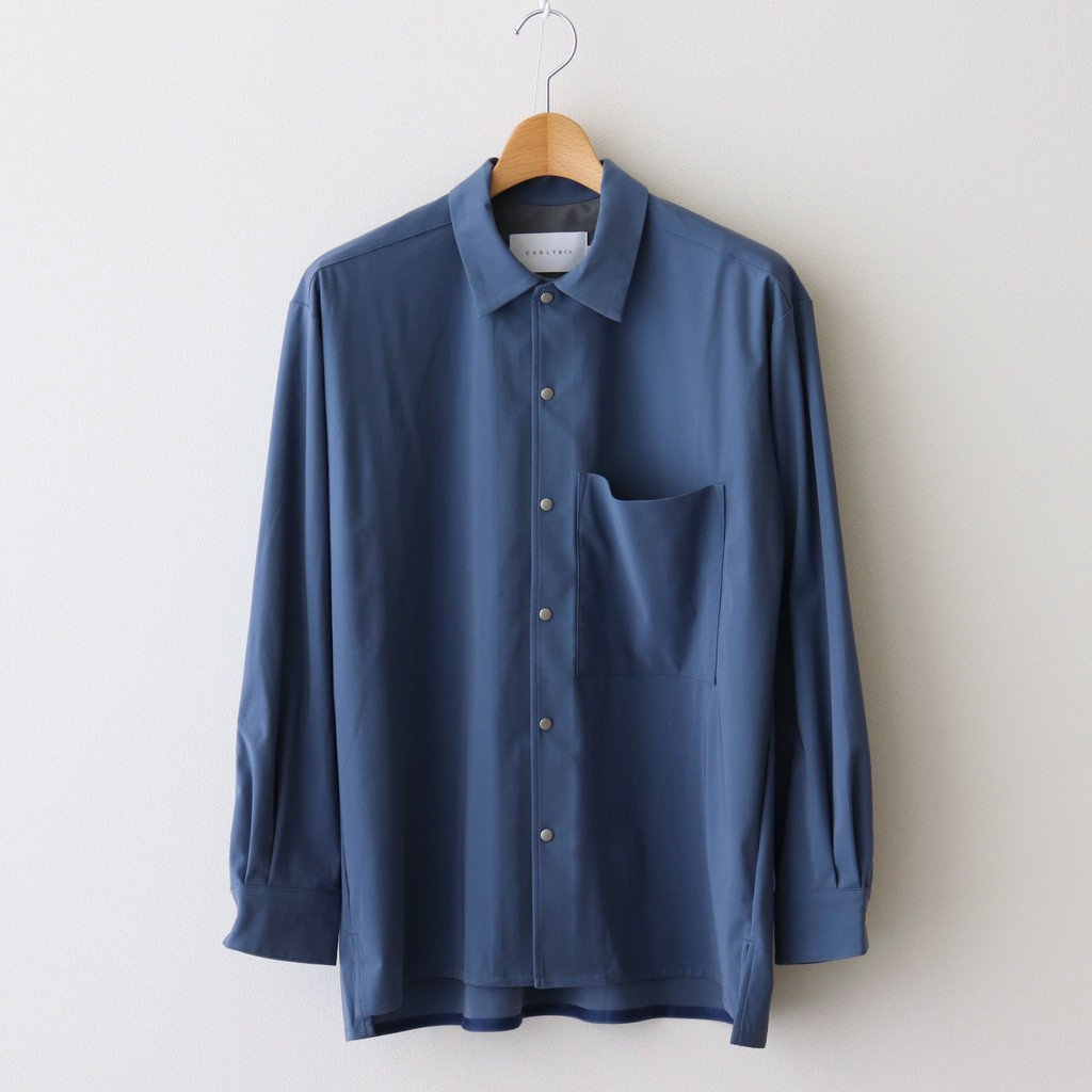 CURLY|CLOUDY L/S SHIRTS PLAIN #STEEL BLUE [211-31022SD]