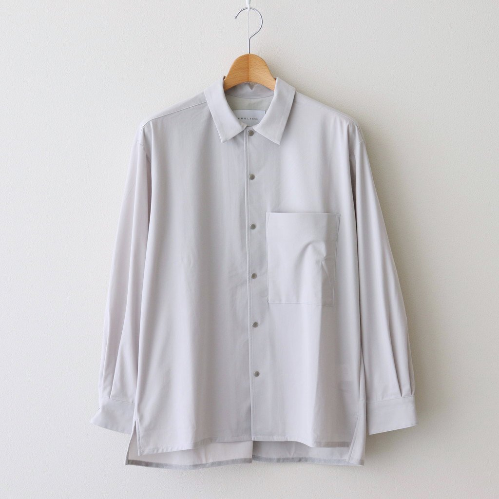CURLY|CLOUDY L/S SHIRTS PLAIN #LT.GRAY [211-31022SD]