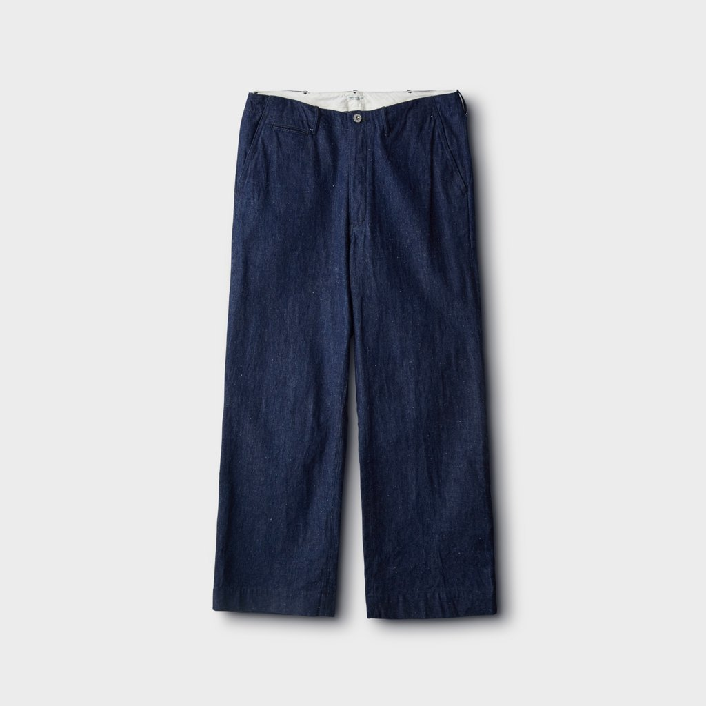 PHIGVEL MAKERS & Co.|OFFICER TROUSERS WIDE #INDIGO [PM-401W]