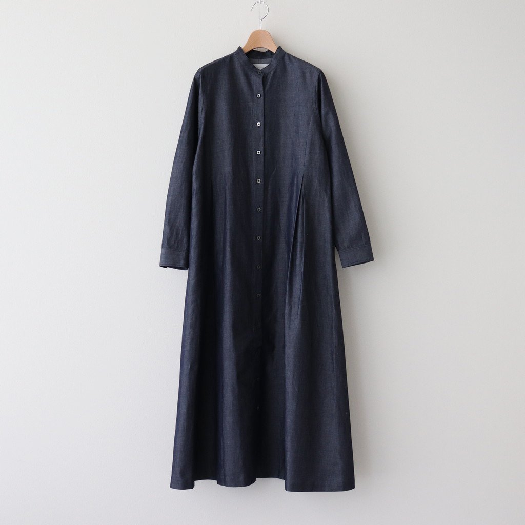 Phlannel|COTTON LINEN LIGHT DENIM SHIRT DRESS #INDIGO [BBZ2011504A0002]