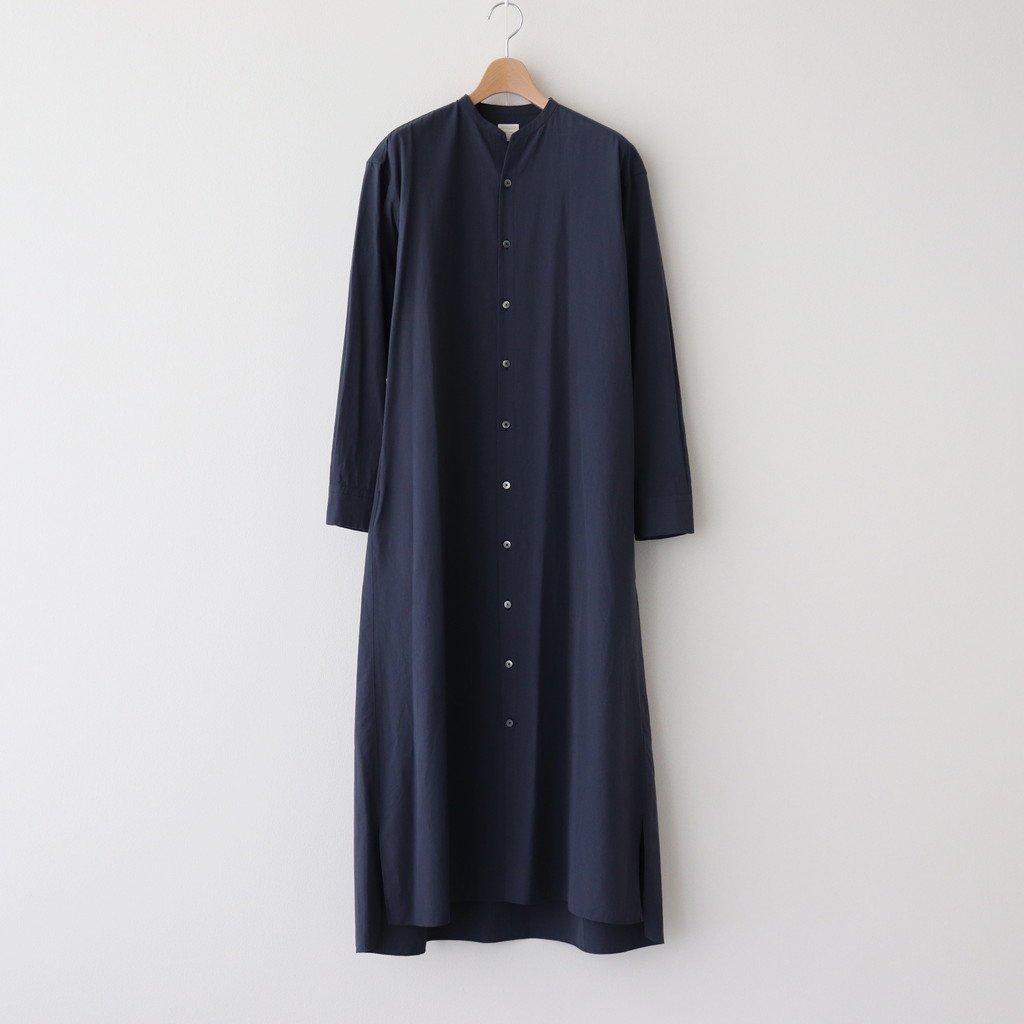 Phlannel|STAND COLLAR SHIRT DRESS | WOMEN #NAVY [BBZ1011309A0001]