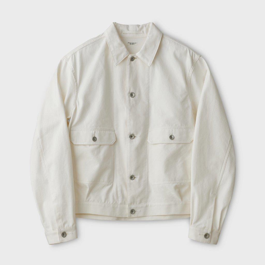 PHIGVEL MAKERS & Co.|CANVAS SHORT BLOUSON #OFF WHITE [PMAL-OT03]