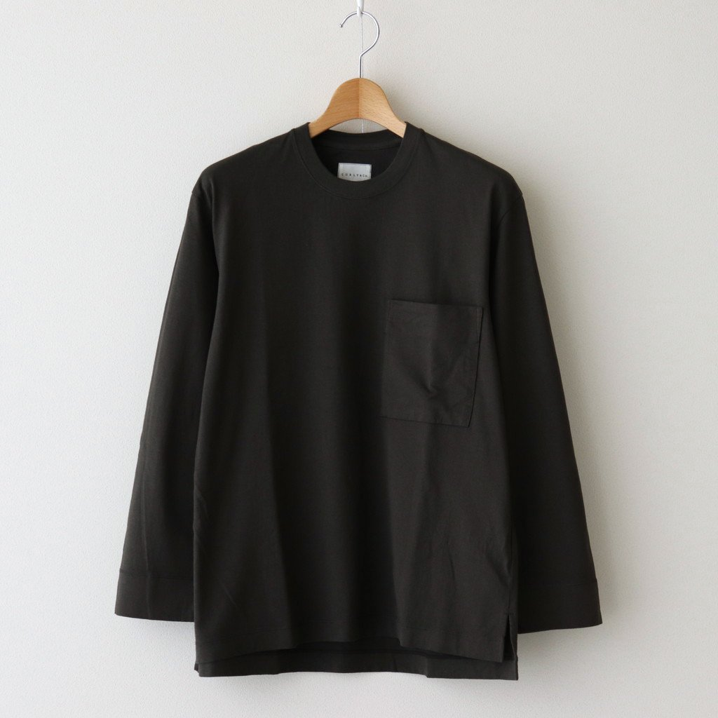 CURLY|FROSTED L/S POCKET TEE #INK BLACK [211-34032]