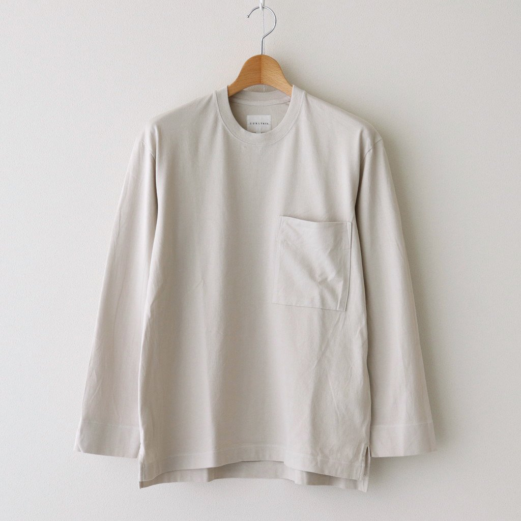 CURLY|FROSTED L/S POCKET TEE #OFF WHITE [211-34032]