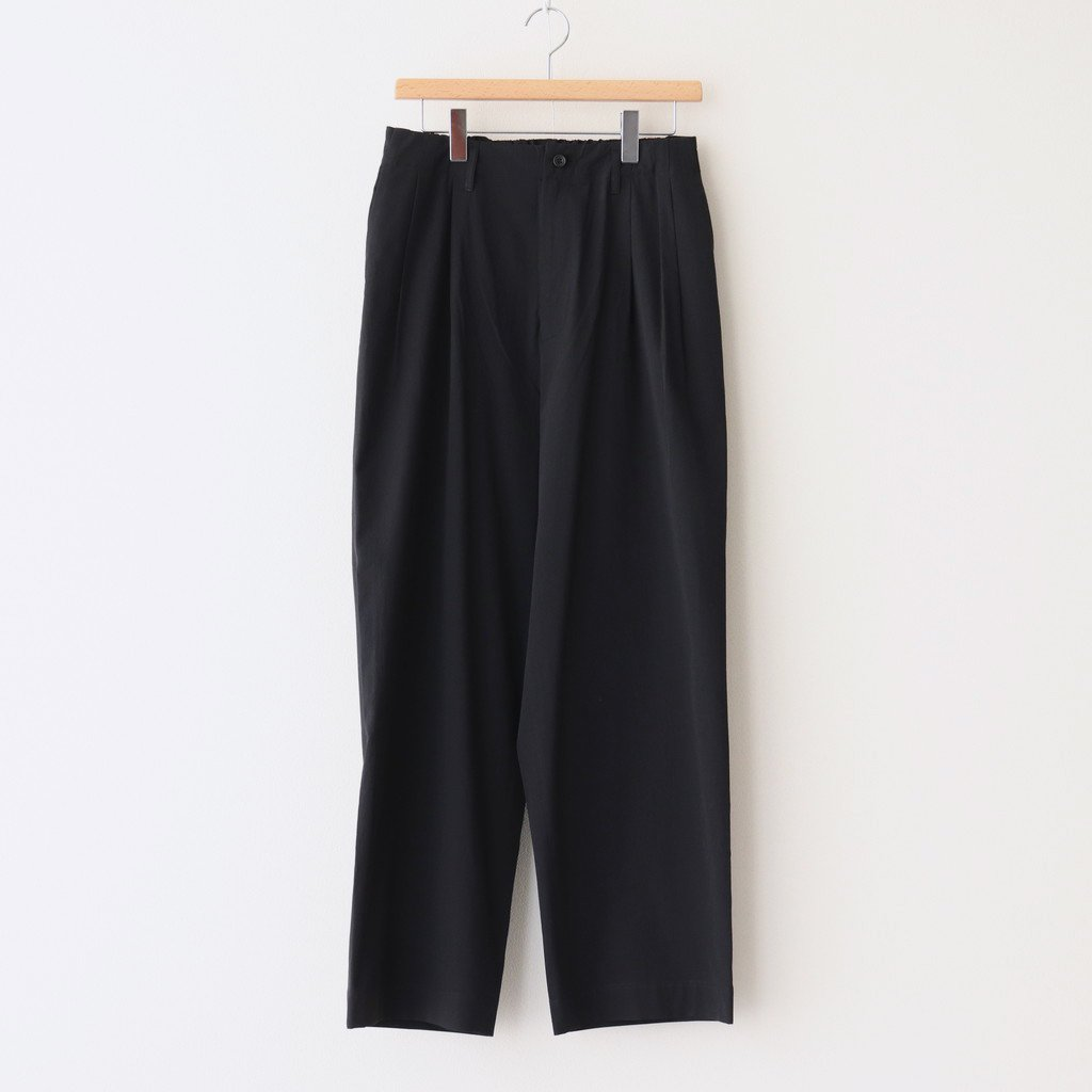 marka|2TUCK STRAIGHT FIT EASY #BLACK [M21A-07PT01C]