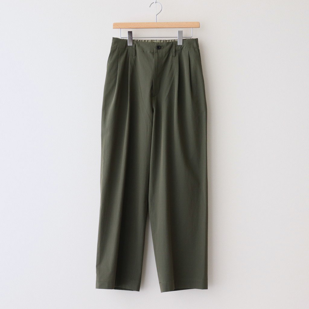 marka|2TUCK STRAIGHT FIT EASY #OLIVE [M21A-07PT01C]