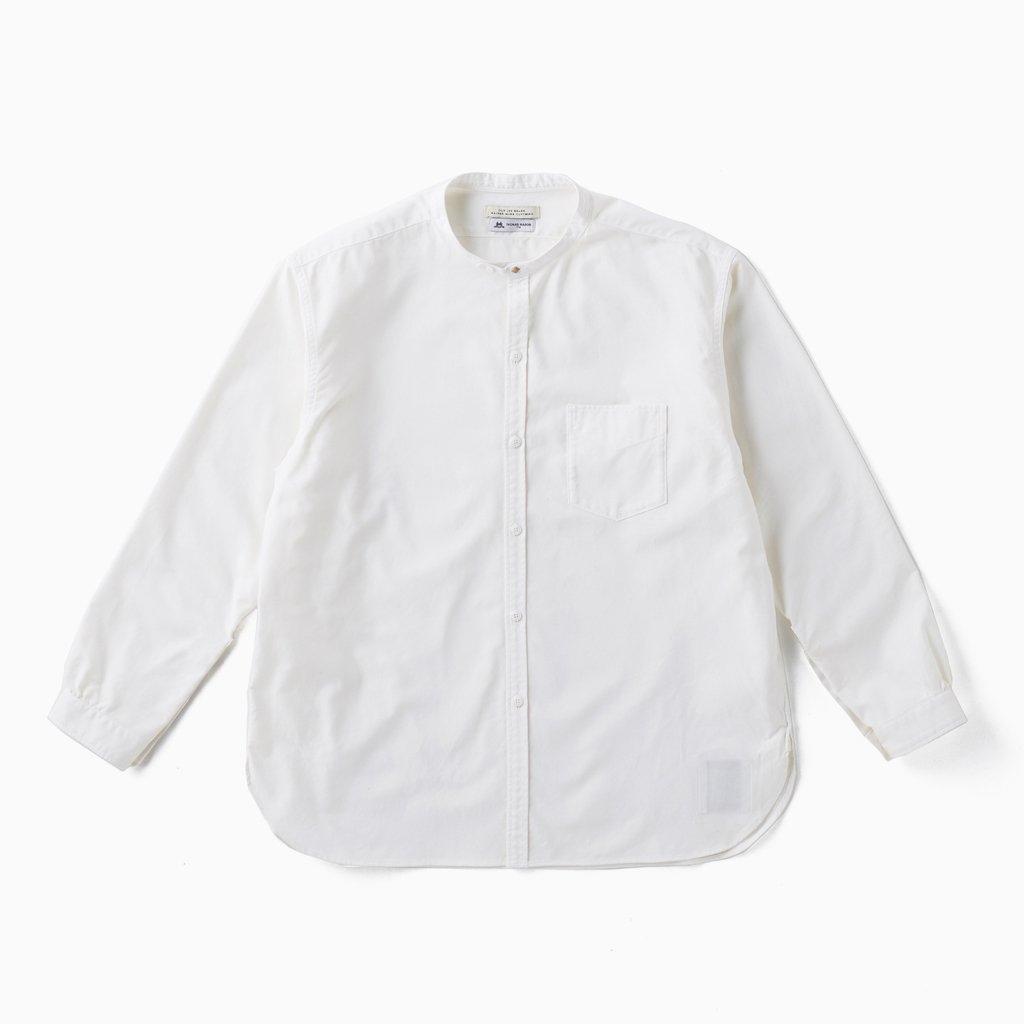 OLD JOE BRAND|STUD BUTTON BAND COLLAR SHIRTS #OXFORD [211OJ-SH01]