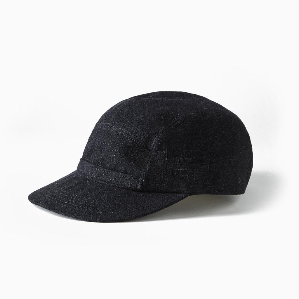OLD JOE BRAND|FRONT BELTED WORK CAP #BLACK CANVAS [211OJ-HT02]