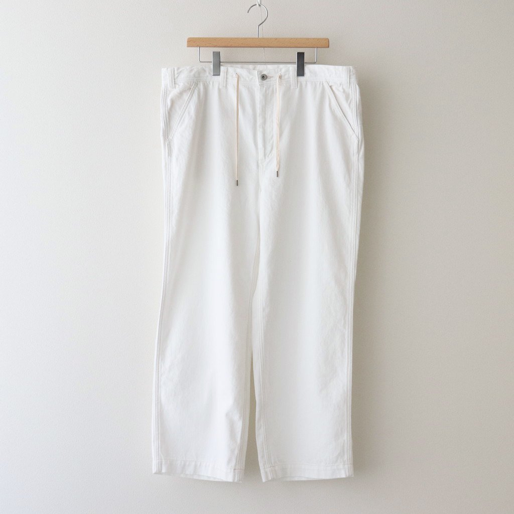 ETHOS|POSH PAINTER PANTS #WHITE [ET21SS-F002]