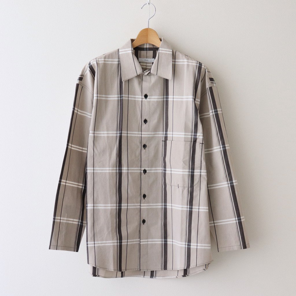 ETHOS|BIG CHECK ONE TWO SHIRTS #BROWN CHECK [ET21SS-C002]