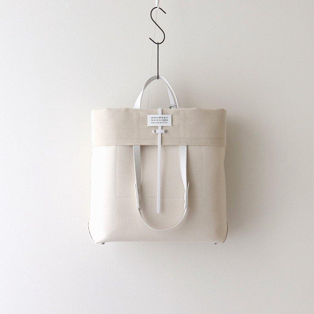 Maison Margiela|CANVAS LEATHER SHOPPING BAG #NATURAL [S35WC0133]