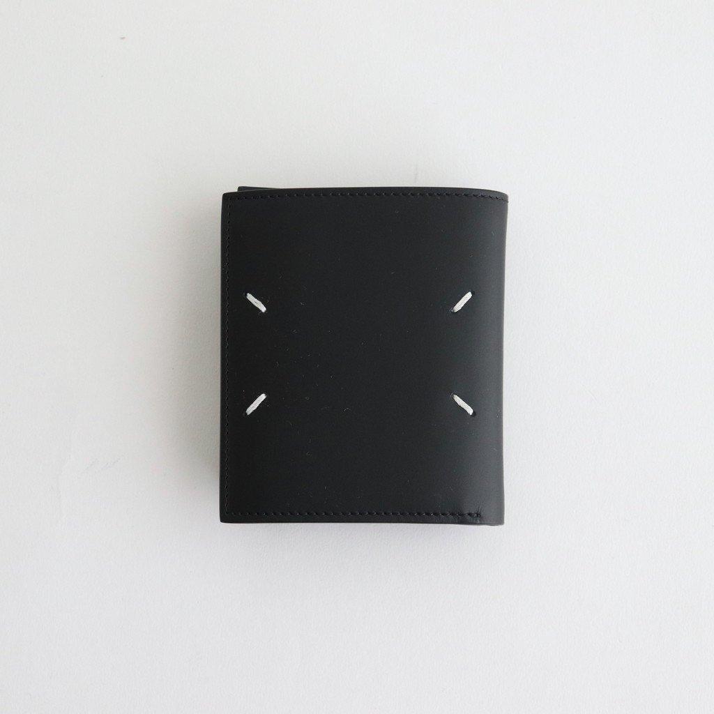 Maison Margiela|LOGO ZIP LEATHER WALLET #BLACK [S35UI0514]