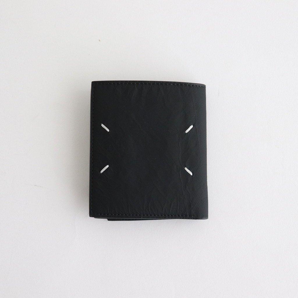 Maison Margiela|CURVE ZIP LEATHER WALLET #BLACK [S35UI0516]