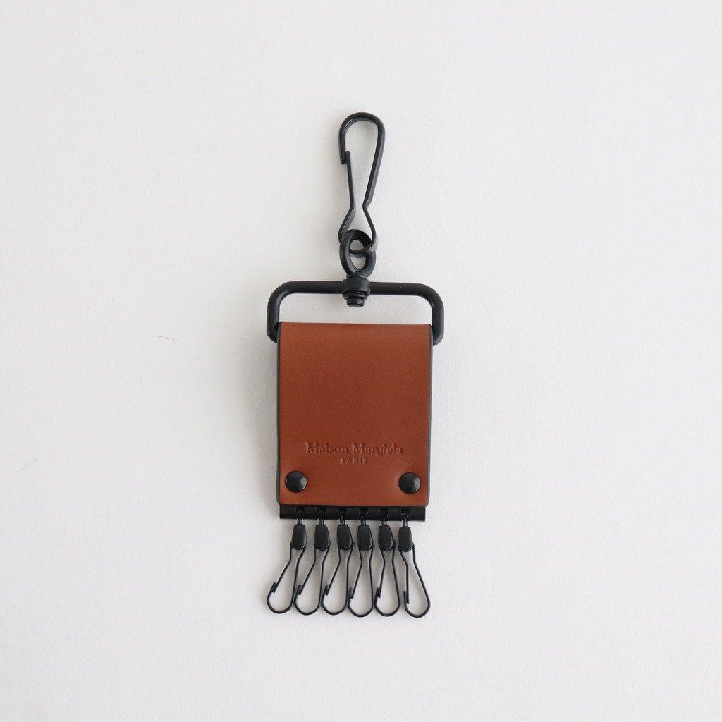 Maison Margiela|LEATHER KEY HOLDER #BUNGEE CORD [S35UA0173]