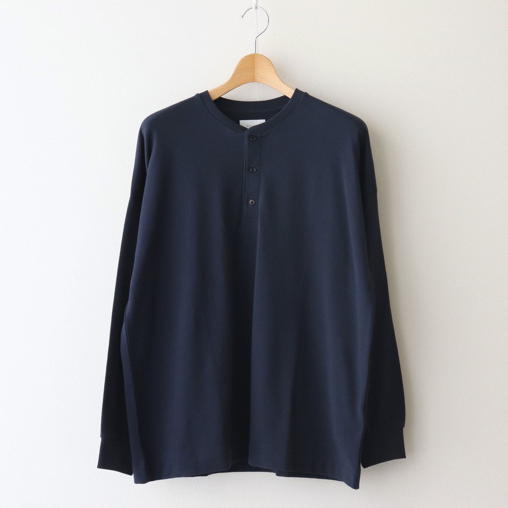 Phlannel|FRESCA COTTON HENRY-NECK SWEATSHIRT #NAVY [BBZ2011406A0003]