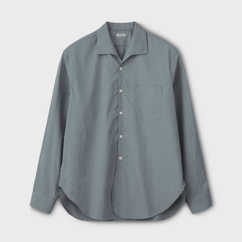 PHIGVEL MAKERS & Co. FRENCH OPEN COLLAR LS SHIRT #JADE GREEN [PMAL-LS03]