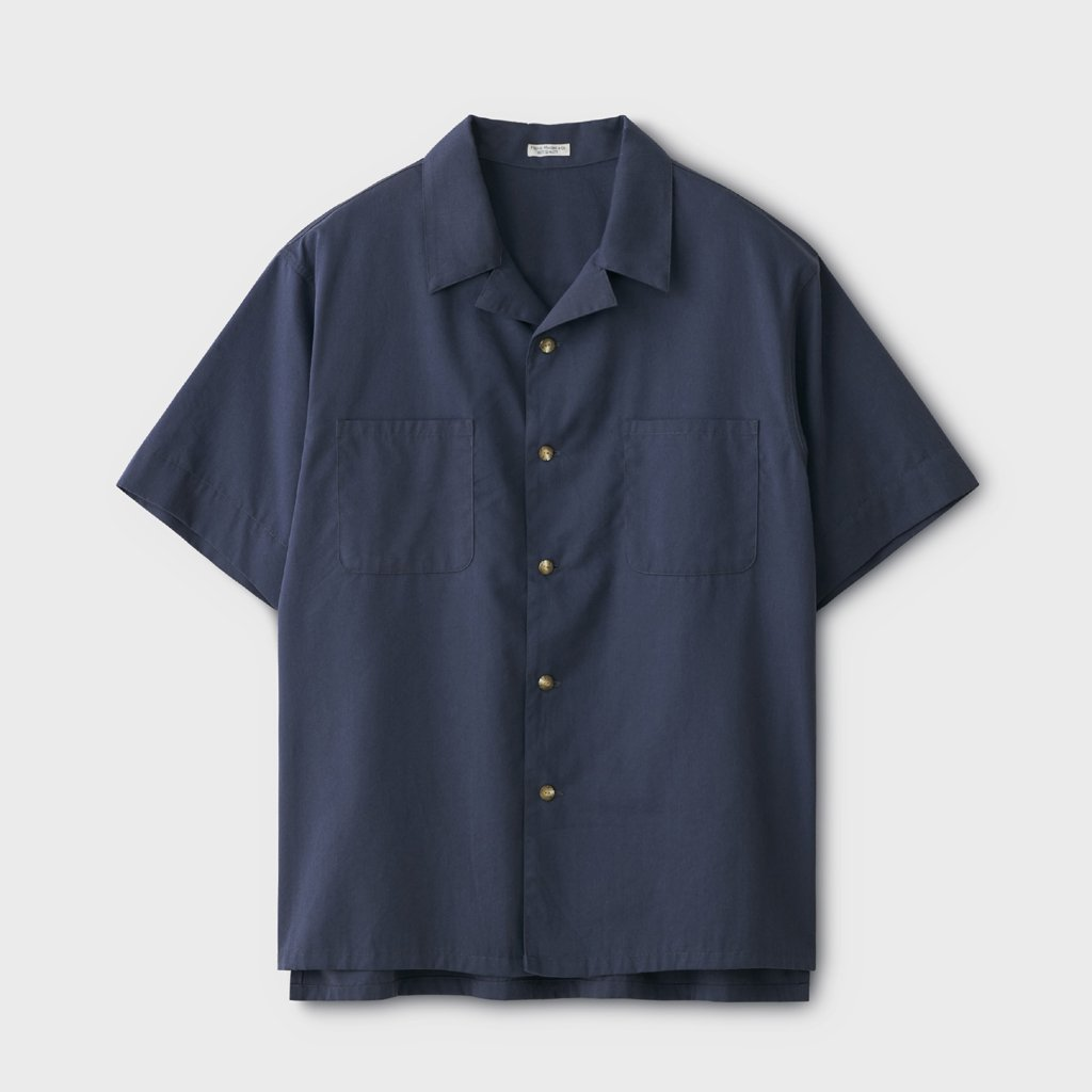 PHIGVEL MAKERS & Co.|WORKADAY SS SHIRT #FRENCH NAVY [PMAL-SS01]