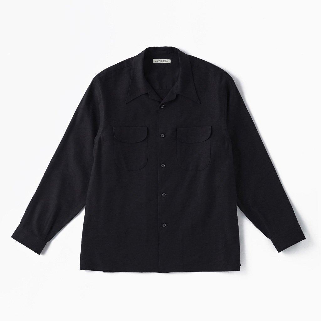 OLD JOE BRAND SWALLOW COLLAR NASSOU SHIRTS #BLACK [211OJ-SH06]