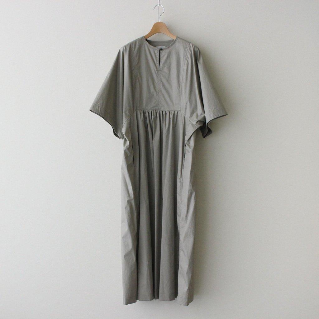Phlannel HIGH COUNT YARN TWILL CLOTH TUNIC DRESS #GRAY BLUE [BBZ1011509A0005]