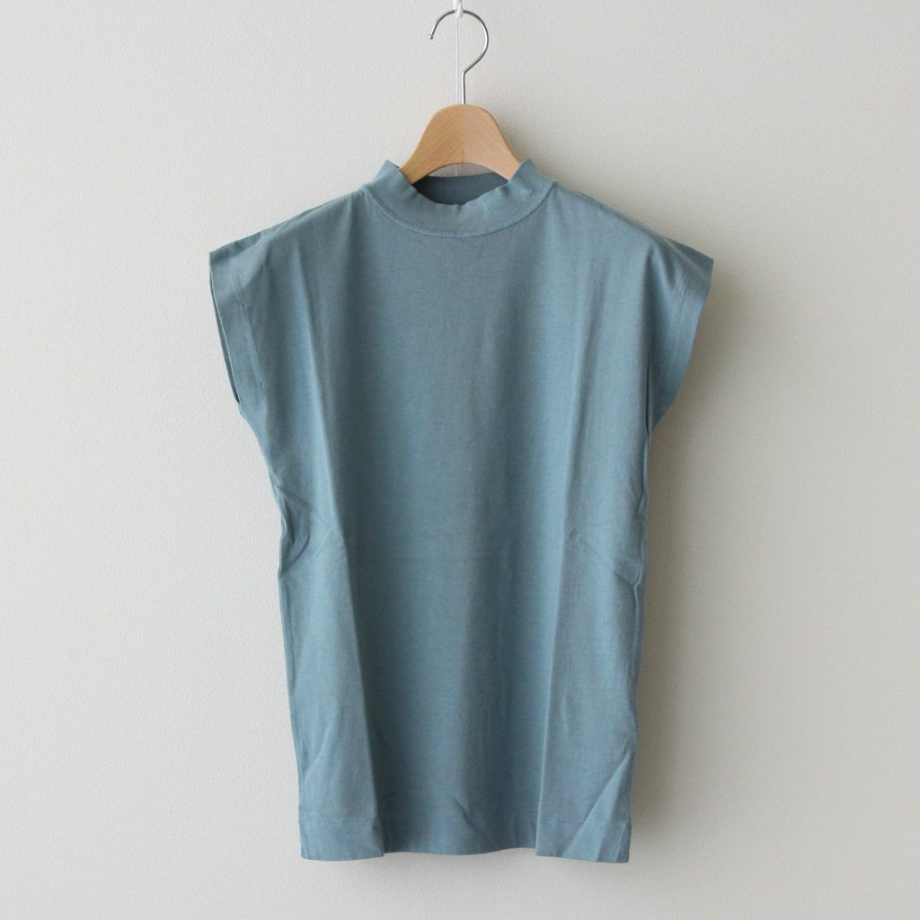 Phlannel|LIGHT SUVIN COTTON FRENCH-SLEEVE T-SHIRT #BLUE [BBZ1011506A0003]