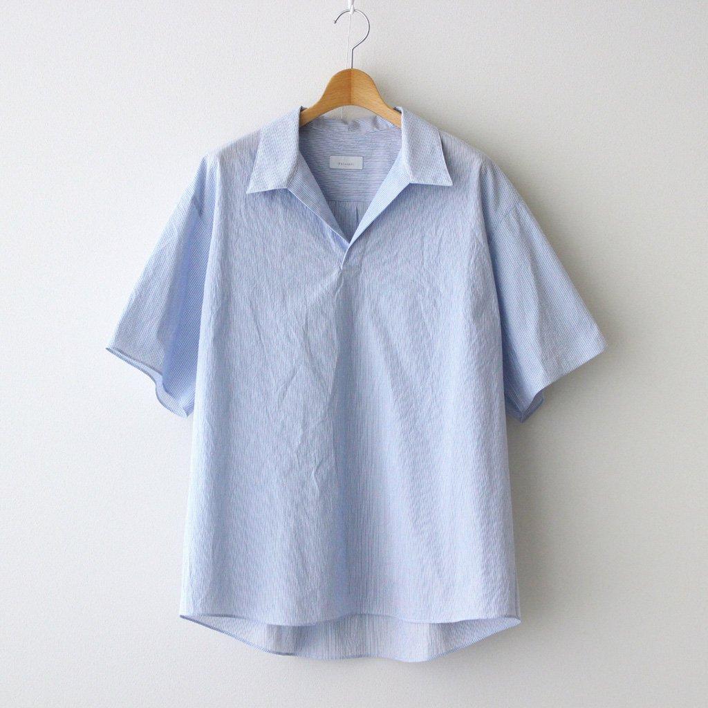 Phlannel|FINX COTTON CORD LANE SKIPPER COLLAR SHIRT #BLUE STRIPE [BBZ2011504A0003]
