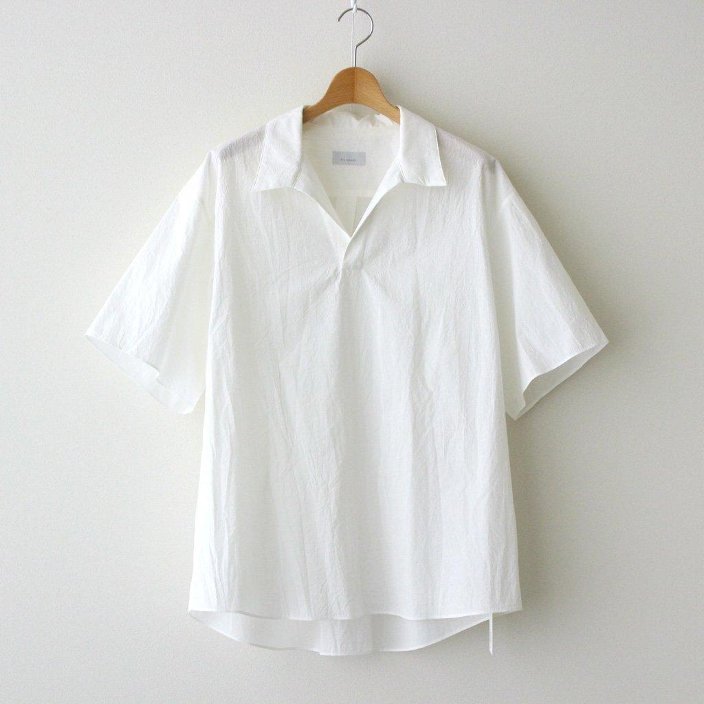 Phlannel|FINX COTTON CORD LANE SKIPPER COLLAR SHIRT #WHITE [BBZ2011504A0003]