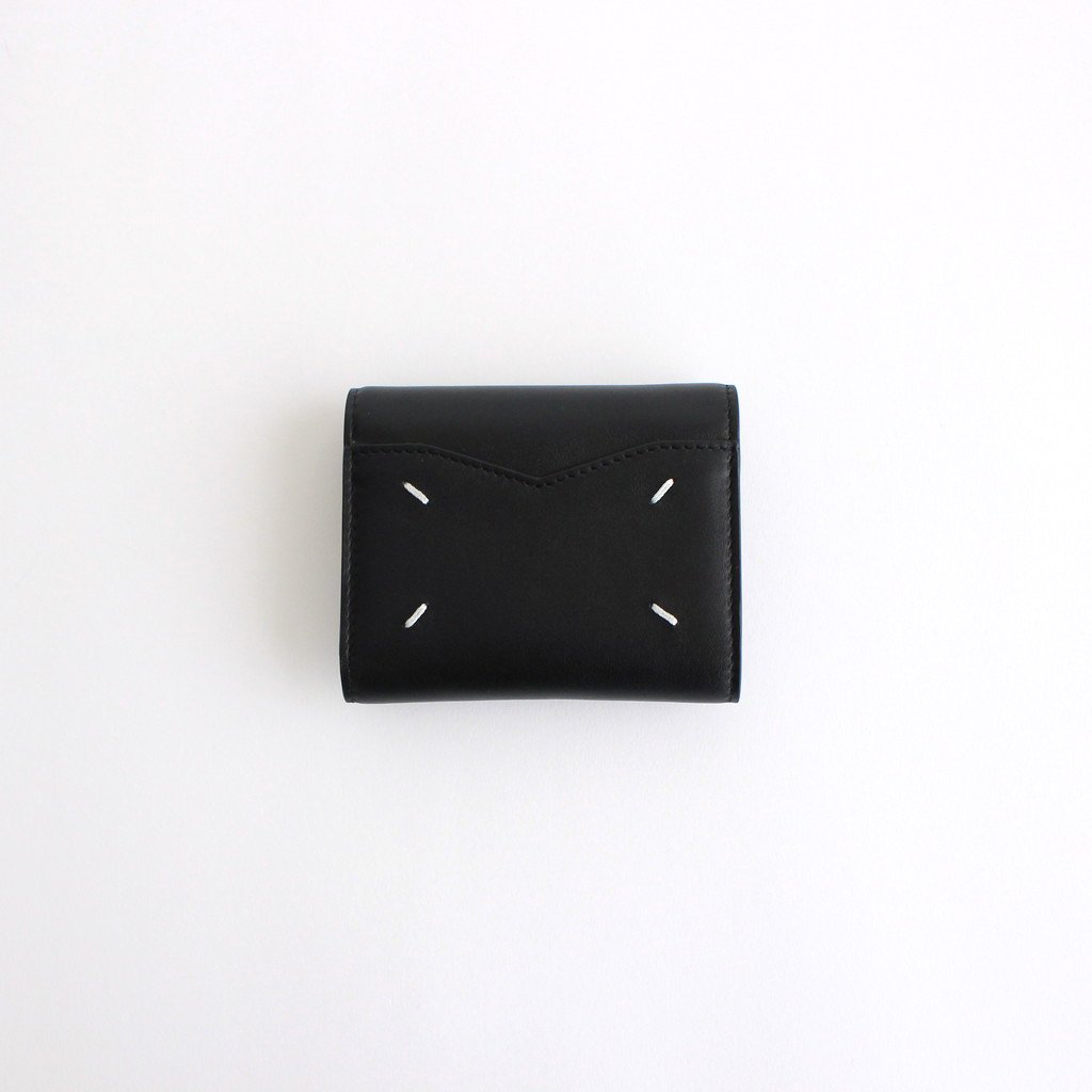 Maison Margiela|ZIP COMPACT TRI FOLD #BLACK [S56UI0136]