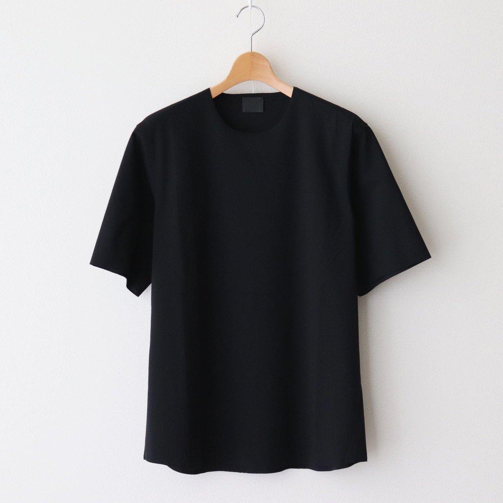 山内|60/- フリーカット強撚ポンチ Tシャツ #BLACK [yc55]
