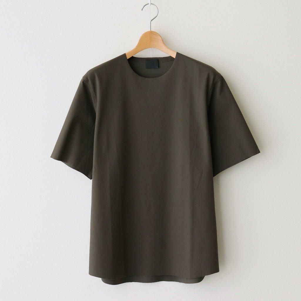 山内|60/- フリーカット強撚ポンチ Tシャツ #GRAY KHAKI [yc55]