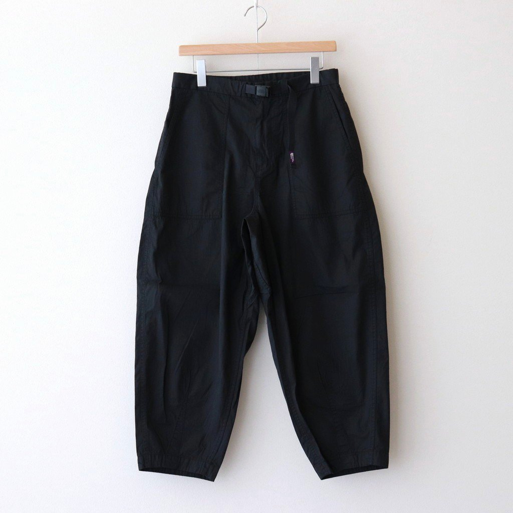 THE NORTH FACE PURPLE LABEL RIPSTOP WIDE CROPPED PANTS #BLACK [NT5064N]
