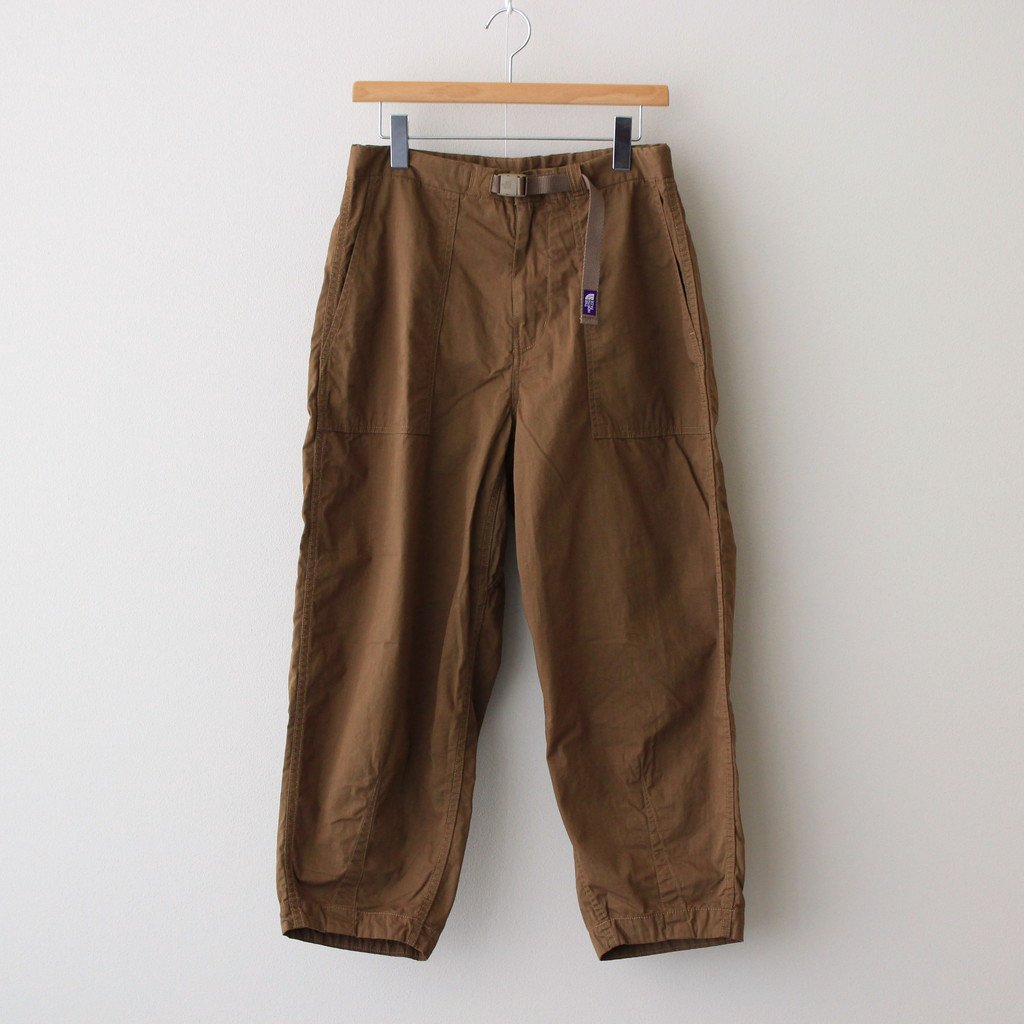 THE NORTH FACE PURPLE LABEL RIPSTOP WIDE CROPPED PANTS #COYOTE [NT5064N]