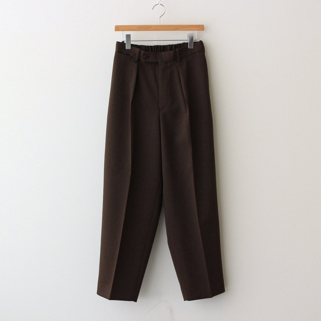 MARKAWARE|CLASSIC FIT TROUSERS #NATURAL BROWN [A21C-09PT02C]